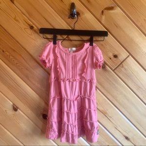 Matilda Jane Pink Ruffle Short Sleeve Dress 4